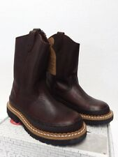 Kids Georgia Boot  WELLINGTON G204 Brown Pull On Waterproof Boots Shoes 13M
