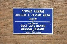 1959 Buck Lake Ranch Angola, Indiana Antique & Classic Auto Show Dash Plaque