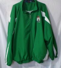NBA Bigman Majestic Boston Celtics Full Zip Green White Windbreaker Basketball