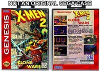 X-Men 2: Clone Wars - Sega Genesis Custom Case *NO GAME*