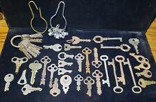 Vintage Antique Skeleton Keys lot of 56 tube flat nice lot Russwin Presto