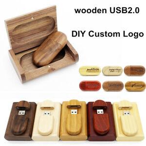 Custom Photography DJ Your logo wood Bean USB Flash Drive Pen Thumb Memory Stick