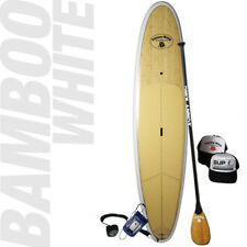 "Stand Up Paddleboard - SUNNY KING 11'6"" Epoxy Bamboo WHITE SUP"