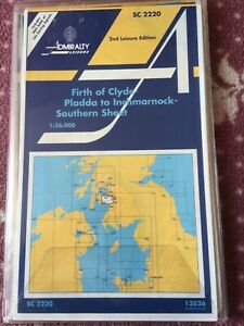 Admiralty CHARTS UNUSED SC 2220 Firth Of Clyde, Pladda to Inchmarnock,.