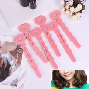 6x Sponge Curler Hair Rollers Soft Foam Sponge Hair Curlers Tools Strip Tool B7H