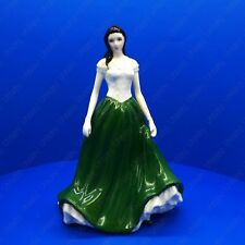 Royal Worcester Caitlin Ireland Figurine Green Dress Limited Edition 2000 Series