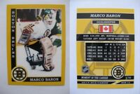 2015 SCA Marco Baron Boston Bruins goalie never issued produced #d/10 super rare