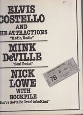 "elvis costello mink deville nick lowe 12"" promo orange vinyl"