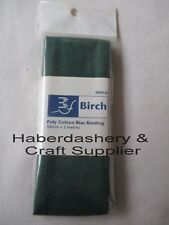 BIRCH BIAS BINDING TAPE BOTTLE PLAIN POLY/COTTON 3MT PRE-PACKED 50MM