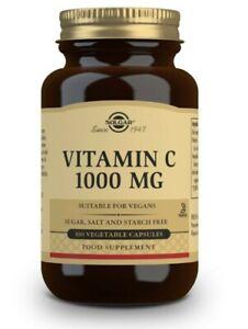 Solgar Vitamin C 1000 mg Size 100 Vegetable Capsules