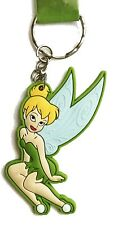 Walt Disney Peter Pan Rubber Tinkerbell Fairy Key Chain Ring