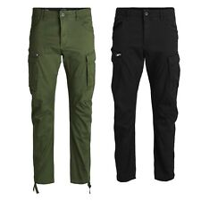 Jack and Jones Mens King Size Cargo Combat Casual Work Trousers Waist Size 40-54