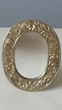 "Ornate Brass 6"" Tabletop Mirror Vintage Crowning Touch Collection"