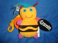 "Crayola Linda Lee Bee Keychain Back Pack Clip 4"" tall Plush Hallmark"