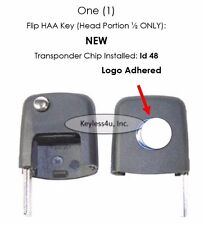 Uncut flip key head transponder w/ Chip Ignition VW Jetta blank switch blade fob