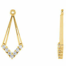 Diamond Earring Jackets In 14K Yellow Gold (1/4 ct. tw
