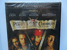 PIRATES OF THE CARIBBEAN DVD CURSE OF BLACK PEARL 2 DISC COLLECTORS EDITION DEPP
