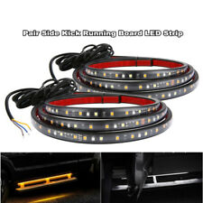 "2pcs Car 70"" Running Board Side Step LED Light Amber White Turn Signal DRL Light"