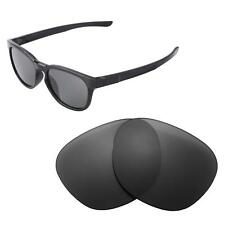 Walleva Polarized Black Replacement Lenses For Oakley Stringer Sunglasses