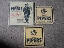 Beer drinks mats drip mats coaster 100 PIPERS WHISKY SCOTCH Allt-A-Bhainne
