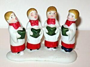 VINTAGE LEMAX CHRISTMAS VILLAGE PEOPLE FIGURINES 4 CAROLERS