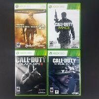 COD Call of Duty 4 Game Lot - Modern Warfare 2 & 3 BO2 Ghosts (Xbox 360) Tested
