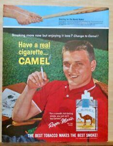 1962 magazine ad for Camel Cigarettes - New York Yankee Roger Maris enjoys one