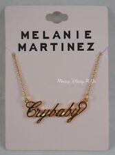 New Melanie Martinez Cry Baby Nameplate Statement Pendant Necklace