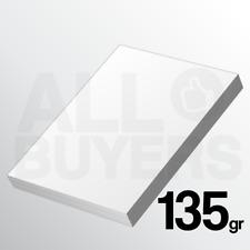 50 FOGLI Cartoncino bianco 135 gr Stampa Laser e Inkjet A4 Carta Fotografica