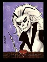 Superman: The Legend 2013 Cryptozoic DC Comics Sketch Card by Michael Kasinger