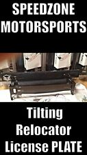 Speedzone Tilting Relocator License Plate Frame Holder Closet Carbon Look Glossy