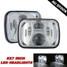 "2xLED Square Headlights 5x7"" 7x6"" Chorme for Ford F250 F350 F450 F550 Super Duty"