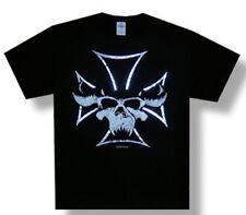 Danzig-Skull and Foil Cross-Small Black T-shirt