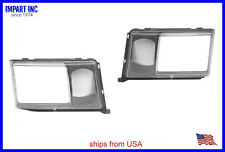 Mercedes 260E 300E 400E HeadLight Door Cover Fog Light Cover W124 Both Sides
