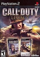Call of Duty Legacy Playstation 2 PS2 Big Red One Finest Hour Both Disc's MINT