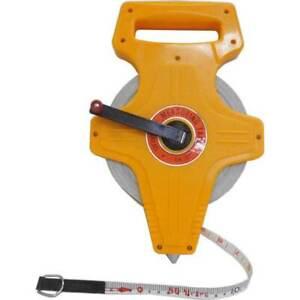 New The Original 50 metre Fiber Glass Measuring Tape with Foot Stud tape measure