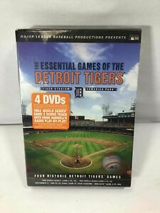 The Essential Games Of The Detroit Tigers 4 DVD Set -Historic Games- NEW, Sealed