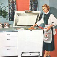 1950s GENERAL ELECTRIC FOOD FREEZER advertising brochure G.E. MODEL HA-7K HA-11K