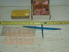 VINTAGE Train Village Building Accessories NEW Flags People Plane Transformers