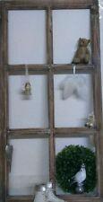 Fenster Deko Fensterrahmen Sprossenfenster Brocante Braun Holz Shabby Chic 85cm