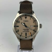 Timex Indiglo Mens The Waterbury 24 N Leather Band Analog Quartz Watch
