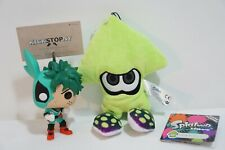 Splatoon Inkling Squid Green Soft Plush Figure Toys - Authentic US Tags