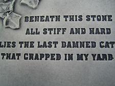 cat grave stone garden ornament <<VISIT MY SHOP>>