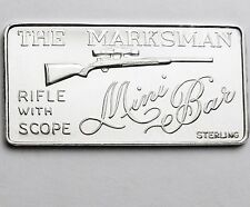 THE MARKSMAN RIFLE WITH SCOPE MINI MINT SILVER ART BAR RARE