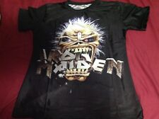 Boys Youth Medium Iron Maiden 3D Print Casual T-Shirt NWOT