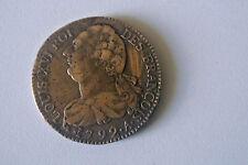 LOUIS XVI RARE ETAT TTB + 2 SOLS 1792 A métal de cloche