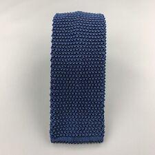 CHARVET Silk Navy Textured Knit Tie