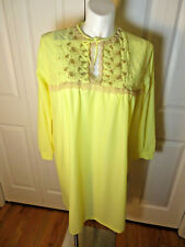 """Vintage Forty Winks NWT L/Sleeve Nightgown Size L Bust 47"""" Hip 62"""""""
