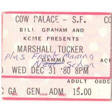 New listing Marshall Tucker Mohagany Rush & Gamma Concert Ticket Stub Cow Palace Sf 12/31/80