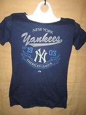 New Blue New York Yankee Women's Top/w short sleeves  Size Medium